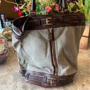 Michael Korda brown large bucket bag